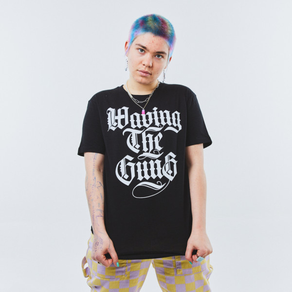 Waving the Guns - Kalligraphie Unisex Shirt schwarz-weiß 2XL
