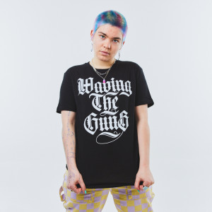 Waving the Guns - Kalligraphie Unisex Shirt schwarz-weiß 3XL
