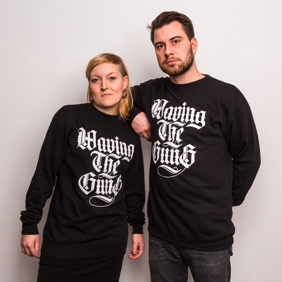 Waving the Guns - Kalligraphie Unisex Sweatshirt schwarz-weiß 2XL
