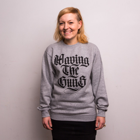 Waving the Guns - Kalligraphie Unisex Sweatshirt grau-schwarz M