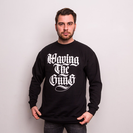 Waving the Guns - Kalligraphie Unisex Sweatshirt grau-schwarz XL