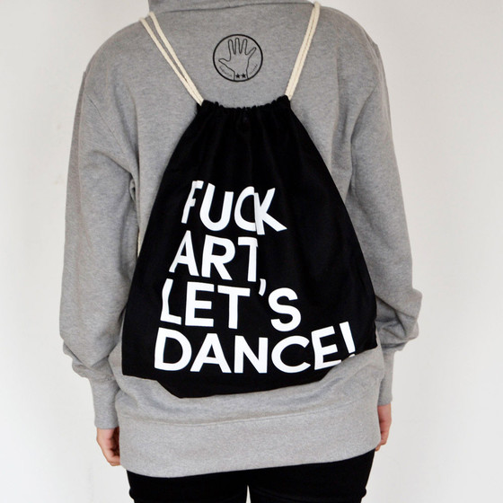 Fuck Art, Lets Dance! - FALD Gym Bag schwarz-weiß