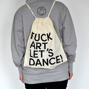 Fuck Art, Lets Dance! - FALD Gym Bag nature-black