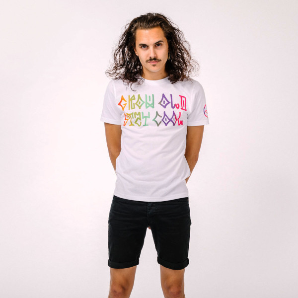 Audiolith - Grow Old Unisex Shirt weiß-multi XS