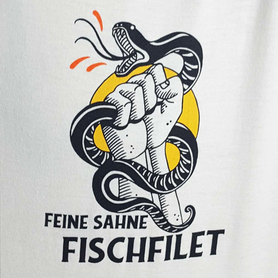 Feine Sahne Fischfilet - Fight Fascism Unisex Shirt weiß-multi XL