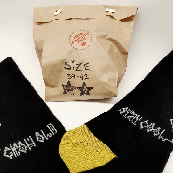 Audiolith - Grow Old Stay Cool Socken 31-34