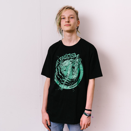Neonschwarz - Grizzly mint Unisex Shirt