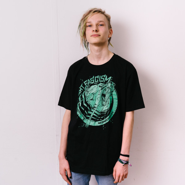 Neonschwarz - Grizzly mint Unisex Shirt L