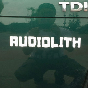 Audiolith - Blockrolle Sticker weiß
